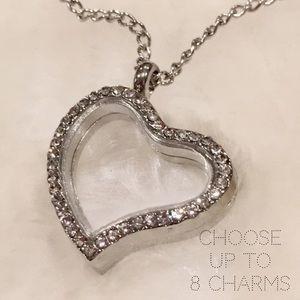 Jewelry - 🎁 Floating Charm Heart Locket & Chain